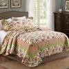 Kundenspezifische vorgewaschene haltbare bequeme Bettwäsche steppte Bettdecke-Set der Bettdecke-3-Piece mit frischen Drucken
