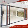 Puerta de plegamiento de cristal del perfil de aluminio con el doble esmaltado para la venta