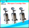 custodia di filtro di titanio igienica del Rod dell'acciaio inossidabile della cartuccia di filtro 20