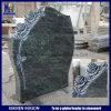 De Europese Grafstenen van de Rozen van de Stijl Douane Gesneden in Tropisch Groen Graniet