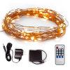 30FT 100 светодиодов Starry String освещения DC5V медного провода освещения для использования внутри и вне помещений, декоративные