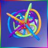 밀어남 타원 플라스틱 PC 덮개 또는 전등갓 단면도 다채로운 지팡이
