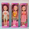Bambola di plastica variopinta sicura e non tossica ecologica della ragazza