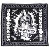 Foulard promotionnel de coton noir imprimé par logo fait sur commande