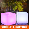 Móveis para pátio impermeável Cadeira de cubo de LED colorido