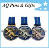 Голубое мягкое медаль эмали с тесемкой