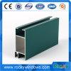 Perfil del aluminio de la construcción de la puerta de Windows de la capa del polvo