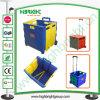 Plastic Vouwend Boodschappenwagentje met Vierkant Handvat