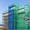 Réseau vert de sécurité dans la construction d'échafaudage de HDPE pour la garantie de construction