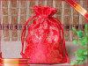 赤いサテンのパッキング袋のギフトの昇進の宝石類のパッキング袋