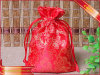 Roter Satin-Verpackungs-Beutel-Geschenk-Förderung-Schmucksache-Verpackungs-Beutel