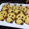 Embalaje del regalo, empaquetado del rectángulo y galletas tradicionales de las galletas de la panadería de la textura semidura