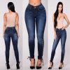 Modèle maigre de dessus de jeans de dames de Jean de femmes de Spandex de coton