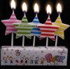 Parte decoraciones velas Cumpleaños Velas encendidas Diseño estrella