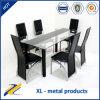 Tableau dinant en verre de meubles de salle à manger de 6 Seater