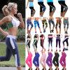 Осуществление Leggings женщин работает йога спортивных фитнес-Stretch обрезанной брюки