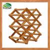 Cremagliera di visualizzazione di bambù naturale della bottiglia di vino