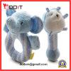 安全柔らかいプラシ天幼児のための青い象の赤ん坊のラッセル音のおもちゃ