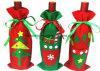 Decorações de Natal Sacos de tampa da garrafa de vinho tinto