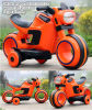 Tricycle alimenté par batterie / la couleur orange Kids Electric Motorcycle