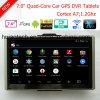 Android 6.0 Dash voiture camion Marine Navigation GPS avec 7.0DVR de voiture GPS, transmetteur FM, AV-in pour le stationnement de la caméra système GPS Navigator, TMC Appareil de suivi