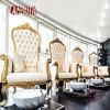 Le Roi en bois Throne Pedicure SPA Chair de bâti de couleur d'or