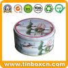 Runder Geschenk-Metallzinn-Kasten für das Weihnachtszinn-Kasten-Verpacken