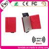 Алюминиевые бумажники держателя кредитной карточки с предохранением от кожи блока RFID