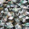 까만 입술 Mop 쉘 불규칙한 삼각형 모자이크 타일
