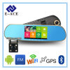 GPS Navigator Mirror Video Recorder Car DVR com Bluetooth Full HD Resolution WiFi Camera