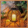 Zonne LEIDENE van de rotan Lantaarn/Kroonluchter/Lamp voor Tuin