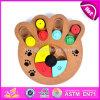 Il cane interattivo di legno di figura creativa all'ingrosso della zampa gioca il migliore quoziente d'intelligenza dell'animale domestico di disegno che addestra i giocattoli interattivi di legno W06f035 del cane