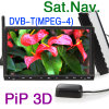 7  HD車のDVDプレイヤーW土曜日Nav。 DVB-T MPEG-4 (ES996D)