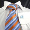 Cravatta di seta tessuta colore di modo degli uomini