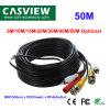 50m CCTV tout-en-un câble audio RCA BNC DC Alimentation Câble d'extension audio et vidéo les accessoires pour caméra de sécurité