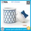 Bottiglia di ceramica dell'animale domestico di marina dell'azzurro di disegno di memoria calda dell'alimento