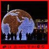 Luz al aire libre de la bola del adorno de la decoración del día de fiesta del LED de la bola enorme de la tierra