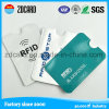 Titular de la tarjeta de seguridad de protección interiores de la tarjeta / manga