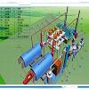 Nuovo dell'impianto di pirolisi di stile del gemello del reattore di pirolisi della gomma di disegno