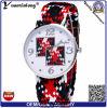 Yxl-206 Handmade 친교 시계 숙녀 제네바에 의하여 길쌈되는 팔찌 시계 형식 석영 우연한 시계 남자
