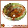 Круглая зеленая раковина сосуда камня Onyx Brown