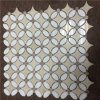De ster Gevormde Waterjet Marmeren Tegel van het Mozaïek voor de Prijs van de Bevloering