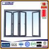 Glace en aluminium de double de patio glissant les portes de pliage en aluminium de portes de pliage