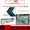 HPL resistente a produtos químicos