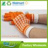 Calientes de punto guantes de la pantalla táctil de lana Jacquard en invierno