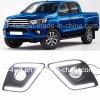 Banheira de luzes de dia LED DRL para Toyota Hilux Revo 2015+