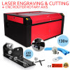 CO2 130W LaserEngraver mit Drehmittellinie