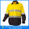 Camicia gialla di protezione del lavoro di forza degli indumenti da lavoro di Fluo ciao