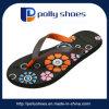 Черноты печатание цветка женщин Flop Flip шнурка новой тонкий