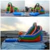 Water Pool、Inflatable Slide、Inflatable Fun Slide B4133のカーブCommercial Grade Inflatable Water Slide